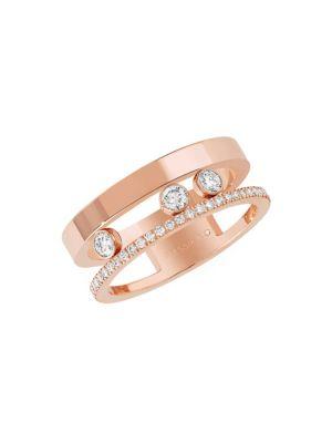 MESSIKA 'Move Romane' Diamond 18K Rose Gold Ring