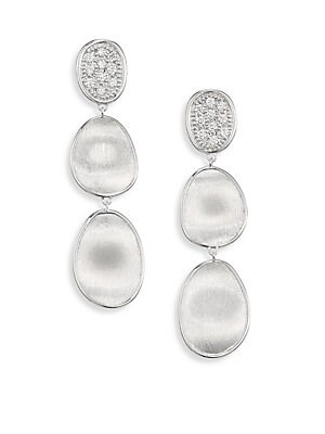 2625c32121e0 Marco Bicego - Lunaria Small Diamond   18K White Gold Triple Drop Earrings