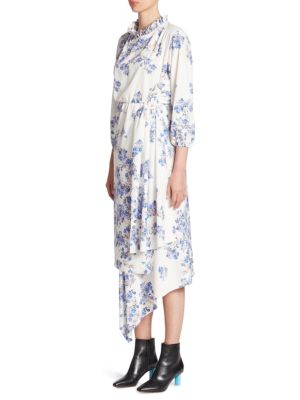 Buy VETEMENTS Asymmetrical Floral Dress online with Australia wide shipping