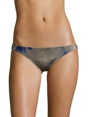 Image of Basic tie-dyed swim bottom with moderate coverage. Lined. Nylon/lycra. Machine wash. Made in USA. Please note: Bikini top sold separately.