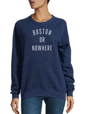 Boston Or Nowhere Graphic Sweatshirt by Knowlita