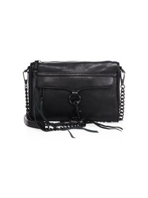 1c319fa7db46 Rebecca Minkoff Mini Mac Convertible Crossbody Bag - Black ...