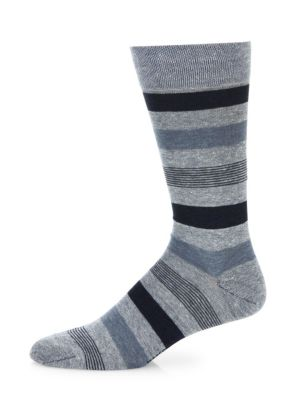 Image of Vividly striped socks tailored from pima cotton. Pima cotton. Machine wash. Made in Italy. Comes in a Cigar themed box.