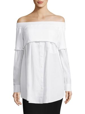 Off-the-Shoulder Shirt by DKNY