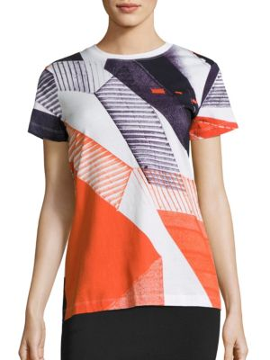 Neocity Striped Cotton T-Shirt by DKNY