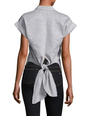 Ara Textured Tie-Back Blouse by Rag & Bone