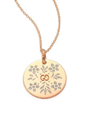 d31ea4f17 Gucci - Icon Blooms 18K Rose Gold Pendant Necklace - saks.com