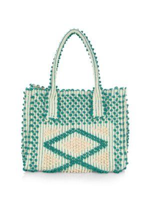 ANTONELLO TEDDE Large Fronte Shoulder Bag in Verde