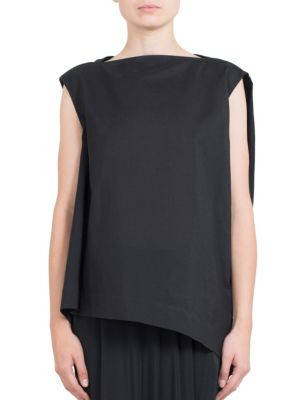 Silk-Blend Draped Top by Rick Owens