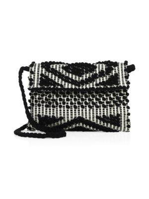 ANTONELLO TEDDE Suni Rombi Crossbody Bag in Black