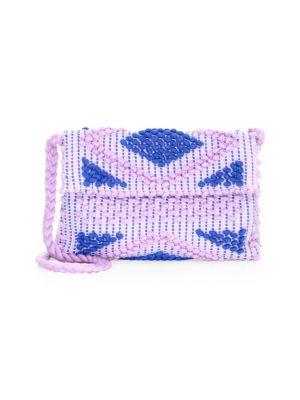 ANTONELLO TEDDE Suni Rombi Crossbody Bag in Lilac