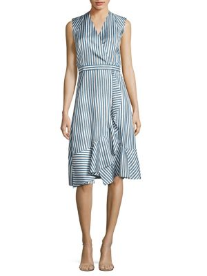 Buy Carven Striped Silk Dress online with Australia wide shipping