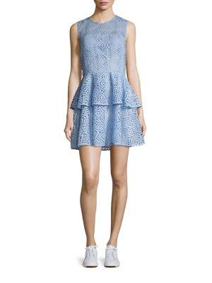 Image of Loren Double Ruffle Dress