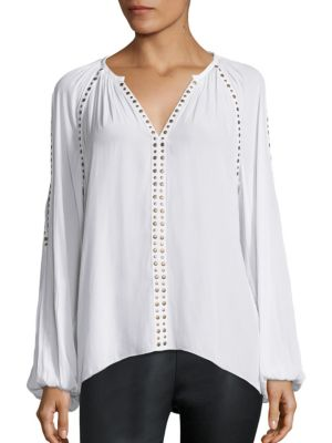 Danielle Studded Cold-Shoulder Top by Ramy Brook