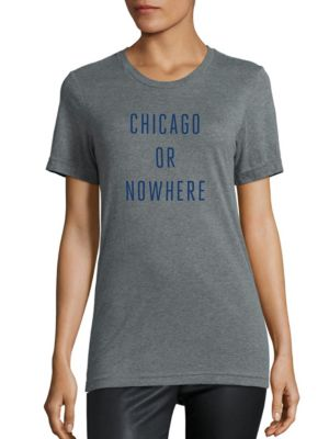 Chicago Or Nowhere Cotton Graphic Tee by Knowlita