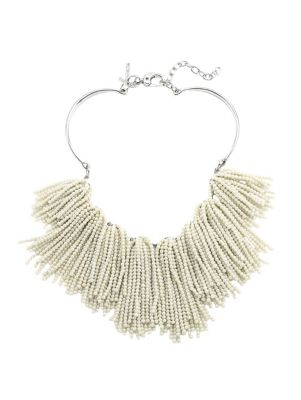 Lele Sadoughi Weeping Willow Beaded Strands Necklace