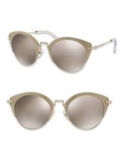 Miu Miu Teardrop 53mm Aviator Sunglasses