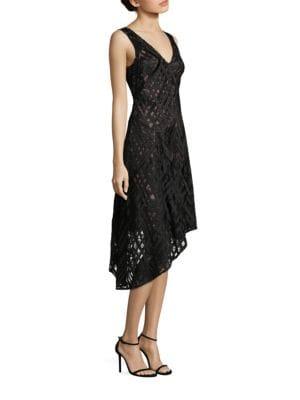Sleeveless Asymmetrical Hem Cocktail Dress by Aidan Mattox