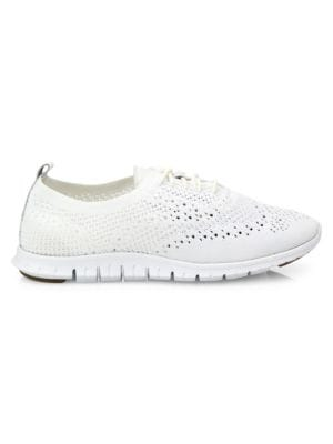 Women'S Zerogrand Stitchlite Knit Lace Up Oxford Sneakers, Optic White