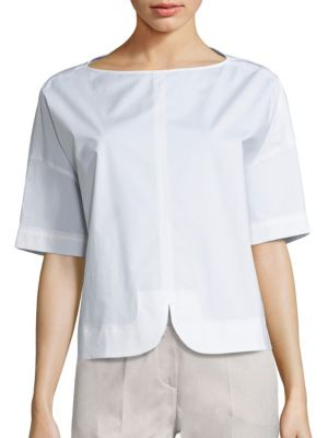 Short-Sleeve Cotton Top by Piazza Sempione