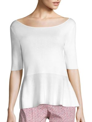 Knit Peplum Top by Piazza Sempione