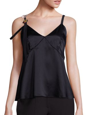Sacha Embellished Silk Camisole by