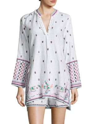 Nydiara Embroidered Tunic Top by Calypso St. Barth