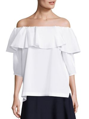 Off-The-Shoulder Stretch-Cotton Blouse by SET