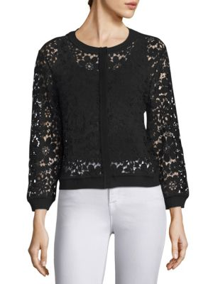Saks Fifth Avenue  COLLECTION Floral Lace Cardigan