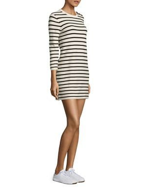 Lemdrella Prosecco Striped Shift Dress