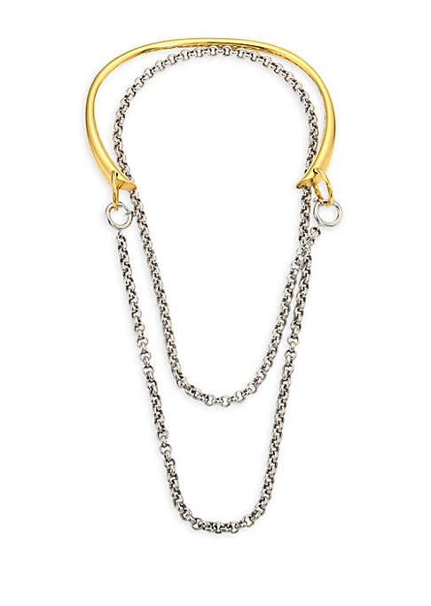 Image of From Collection IV. Add a touch of drama to any look with this chain necklace.18K yellow gold/sterling silver. Slip-on style. Made in France.