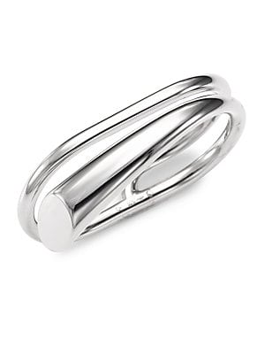 Image of From the Collection IV Polished wraparound ring with sleek tapered design Sterling silver Made in France. Fashion Jewelry - Modern Jewelry Designers. Charlotte Chesnais. Color: Silver. Size: 4.5 & 10.75.