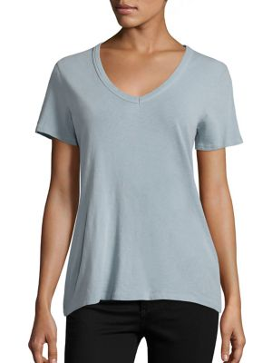 Linen V-Neck Tee by rag & bone/JEAN