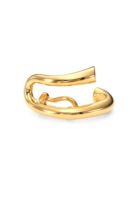 Image of From the Collection IV. Edgy, sculptural ear cuff with sleek curved design.18K yellow gold vermeil. Clip-on back. Made in France.