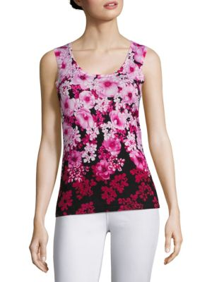 COLLECTION Floral Print Shell by Saks Fifth Avenue