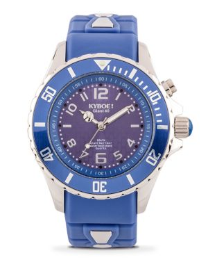 KYBOE! Power Stainless Steel & Silicone Strap Watch in Riverside