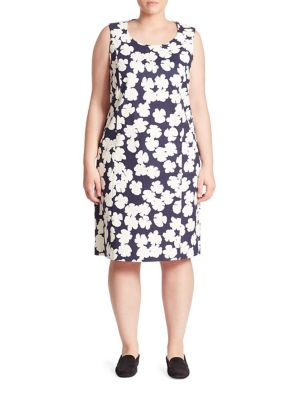 Buy Marina Rinaldi, Plus Size Dedalo Floral-Print Dress online with Australia wide shipping