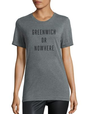 Greenwich Or Nowhere Cotton Graphic Tee by Knowlita