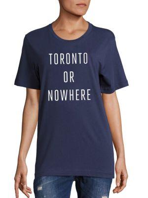 KNOWLITA Toronto Or Nowhere Cotton Graphic Tee in Navy White