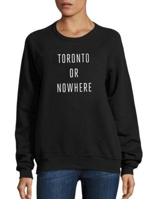 KNOWLITA New York Or Nowhere Graphic Sweatshirt in Black White