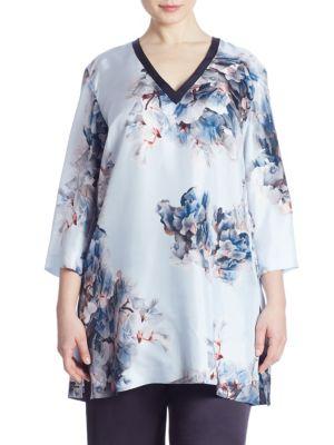 Felce Cyclamen Silk Blouse by Marina Rinaldi, Plus Size