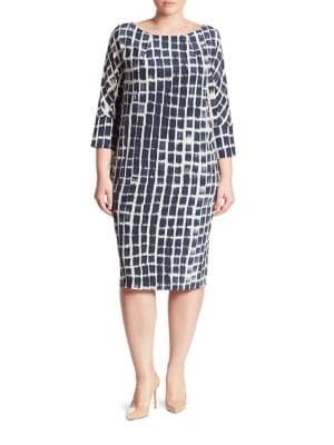 Danese Printed Silk Crepe De Chine Shift Dress