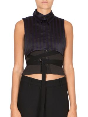 Sleeveless Striped Top by Ann Demeulemeester