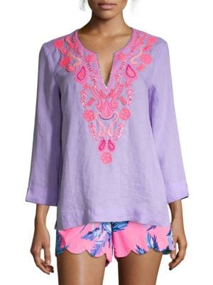 Amelia Island Linen Tunic by Lilly Pulitzer