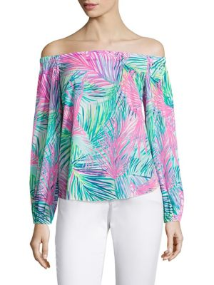 Adira Stretch-Silk Off-The-Shoulder Blouse by Lilly Pulitzer