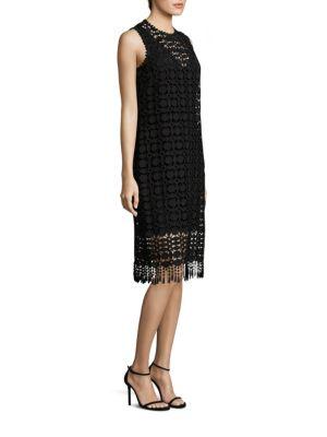 Lace Fringe Hem Dress