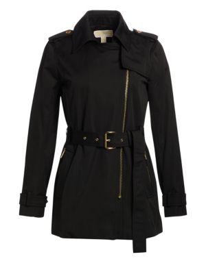 Michael Michael Kors Coats Asymmetrical Zip Trench Coat