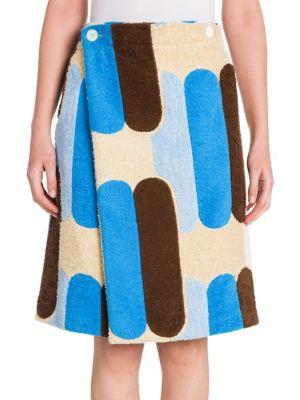Printed Terry Cloth Skirt by Miu Miu