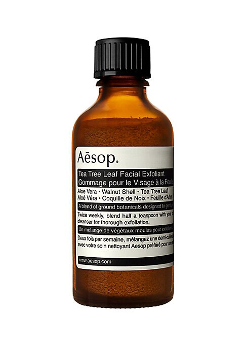 Image of A dry mix of crushed botanicals to buff oily, combination or normal skin. When mixed with an Aesop cleanser (gel or cream-based), this powder of ground Tea Tree leaves, crushed nut shells and purified clay sloughs away tired surface cells to effect immacu