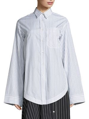 Buy Aquilano Rimondi Oversized Striped Shirt online with Australia wide shipping